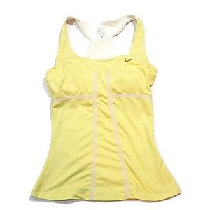 Nike Yellow Racer Back Workout Top
